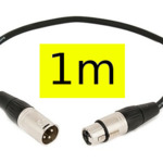 XLR Cable (1m) Yellow